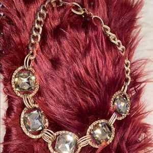 Crystal chunky statement necklace